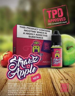 Strawz Apple by Monsta Vape - 3 x 10ml multipack