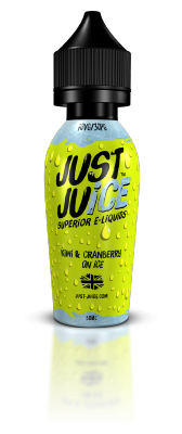 Just Juice - Kiwi & Cranberry on Ice - 50ml Shortfill - ZERO Nicotine